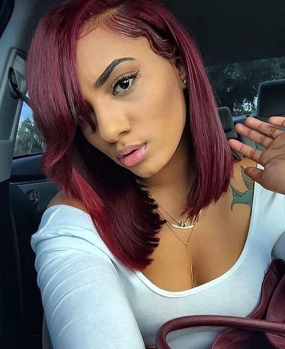 Black Women Hair Dyed Red Your New Hair Style