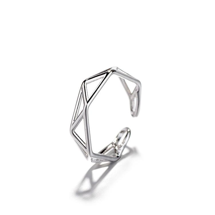 2018 Punk Hollowing Index Jewelry Geometry Simple Style Finger Ring Wholesale Party Wedding Bands Rings For Ladys
