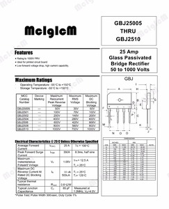 Image 2 - MCIGICM 5PCS 25A 1000V דיודה גשר מיישר gbj2510