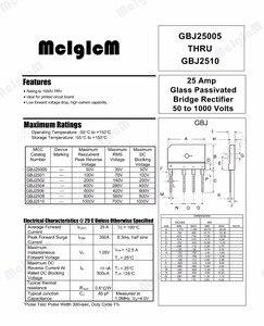 Image 2 - Диодный мостовой выпрямитель MCIGICM gbj2510, 5 шт., 25 А, 1000 в