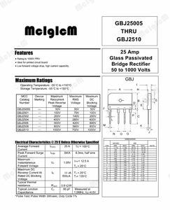 Image 2 - Mcigicm 5 個 25A 1000 1000vダイオード · ブリッジ整流器gbj2510