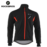 ROCKBROS Hiking Windproof Jersey Autumn Thermal Outdoor Climbing Jacket Waterproof Cycing Jerseys Winter Reflective Sport Cloth