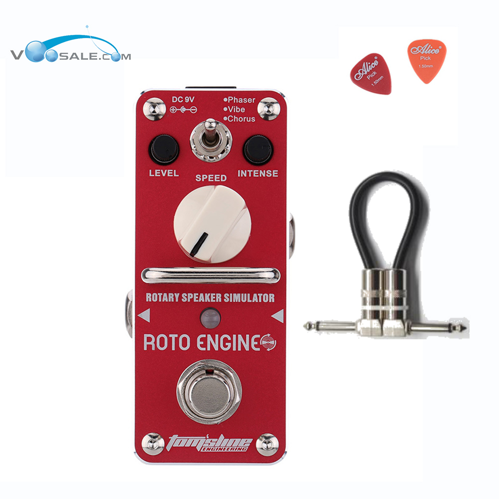 Aroma ARE-3 ROTO ENGINE Guitar Effect Pedal Mini Digital Pedals Effects CE ROHS With True Bypass + Free Cable aroma aos 3 octpus polyphonic octave electric guitar effect pedal mini single effect with true bypass