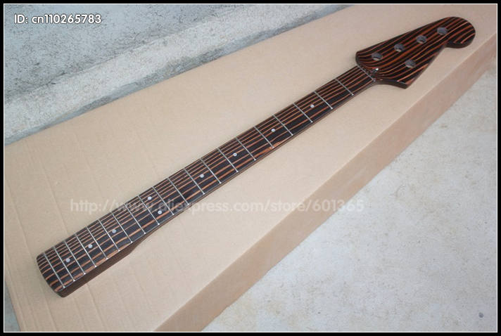 Zebra Wood ! 5 Strings  Electric Bass Neck electric Bass kit kits набор jtc 4766