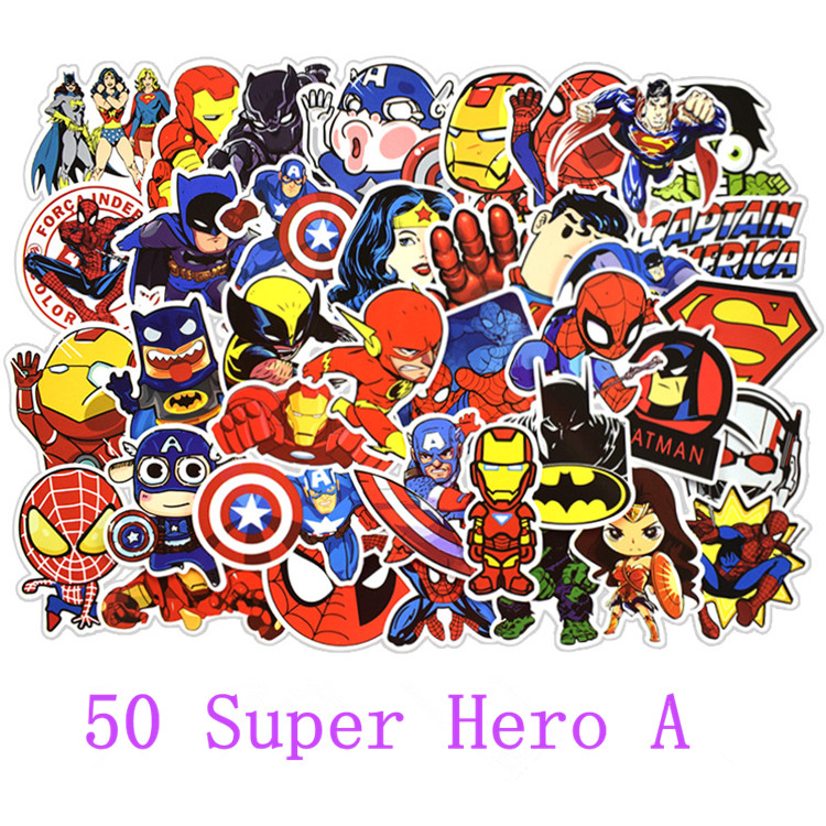 Image 3 - 50 pcs/pack stickers Classic Fashion Style Graffiti Stickers For Moto car suitcase cool laptop Cartoon anime Skateboard sticker-in Stickers from Toys & Hobbies