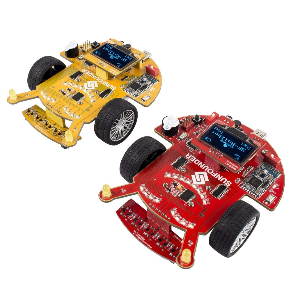Sunfounder SF Rollbot STEM Learning Educational DIY Robot Kit For Arduino Beginner And Kid With Manual