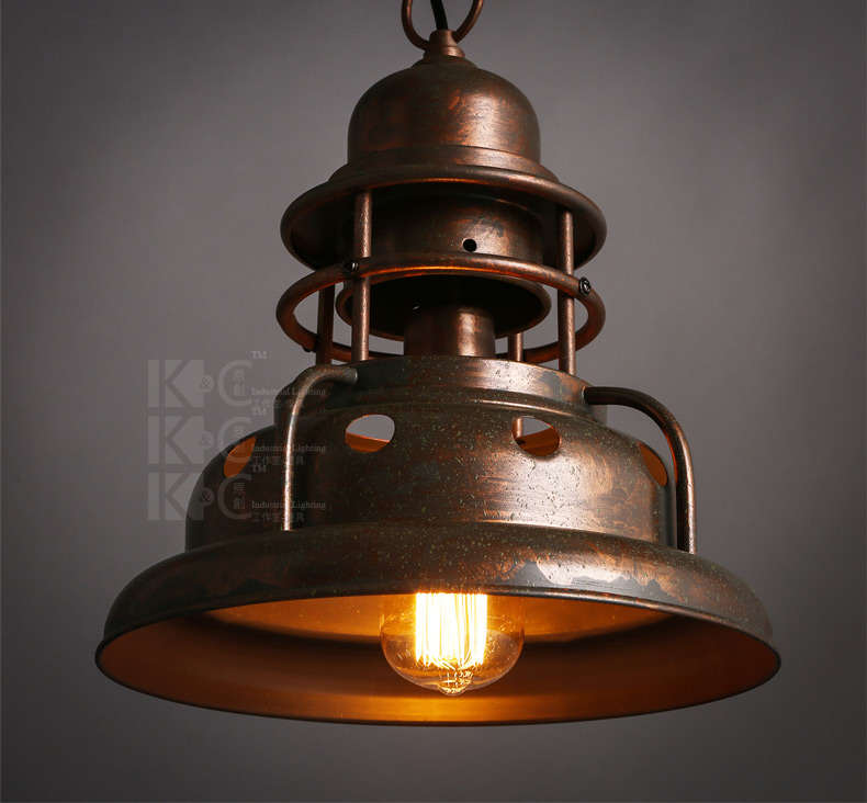 Industrial Vintage Iron Pendant Lamp American Country Single Loft Style Study Hallway Decor Lights Dining Lighting Free Shipping american country loft style creative simple and modern pendant light iron stand chimney study restaurant lights free shipping