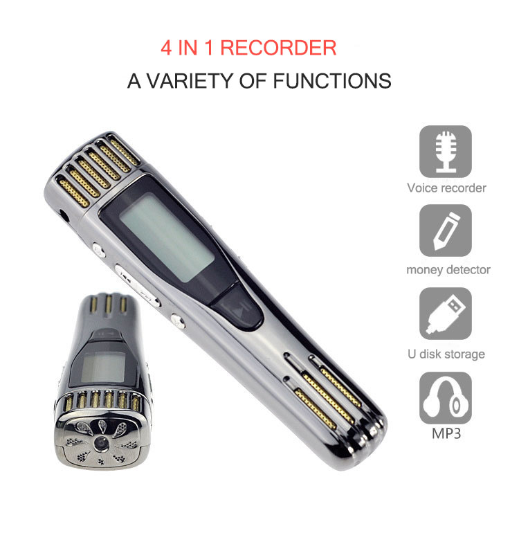 Hd usb sound recorder Professional microsound digital recording pen money detector MP3 player noise reduction Forensics