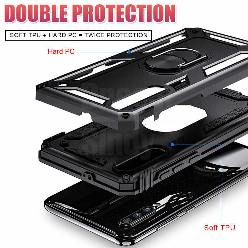Lüks zırh yumuşak silikon tampon durumda Samsung Galaxy A51 A71 A10 A20 A30 A40 A50 A70 M20 M30 A7 2018 halka darbeye vaka