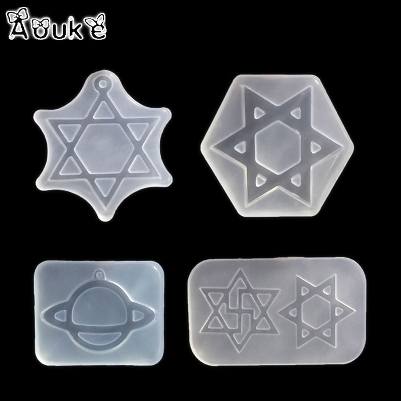 Hexagram small planet shape high definition epoxy mold for Decoration definition