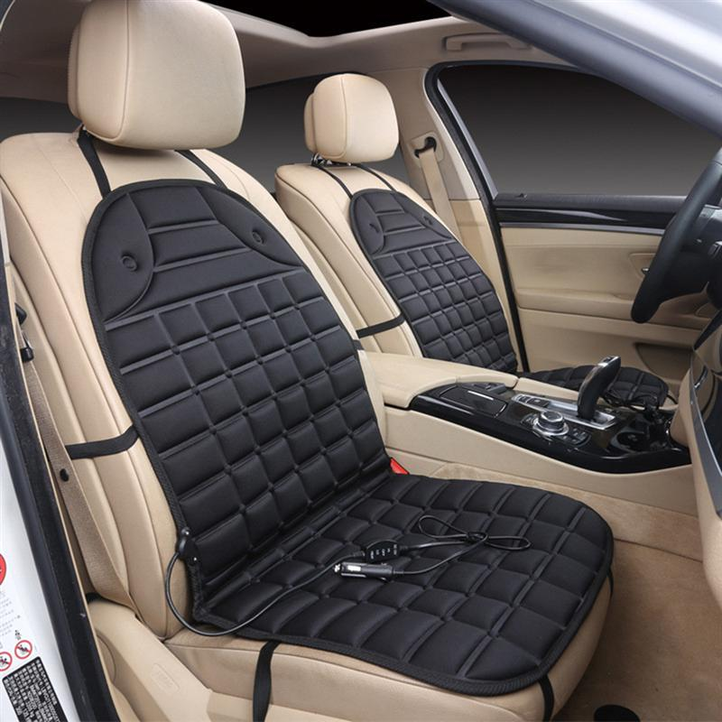 VORCOOL DC 12V Heated Seat Cushion Safe Van Auto Double Seat Heated Pad Cushion Cover Car Seat Warmer ...