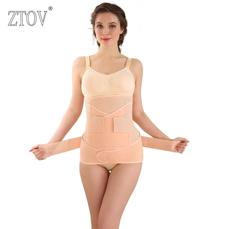ZTOV 3 pièces/ensemble De Maternité Postnatal Ceinture Après La Grossesse bandage Bandeau taille corset Femmes Enceintes Slim Shapers sous-vêtements
