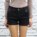 Yichaoyiliang Winter Woolen Plaid High Waist Shorts for Women Slimming Fitness Shorts Home & Living Bottom Hotpants