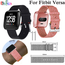цена на High Quality For Fitbit Versa Wristband Wrist Strap Smart Watch Band Strap denim Watchband Replacement Smartwatch Band Bracelet