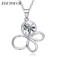EYE TOUCH Crystals From Swarovski Necklace Women Pendants Butterfly Shape Australian Rhinestone S925 Sterling Silver Jewelry