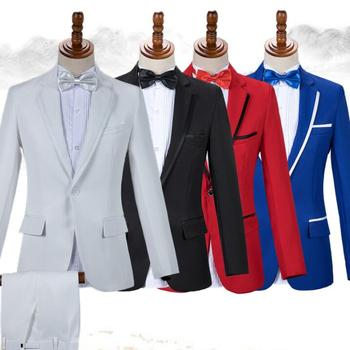 Black white clothes men suits designs masculino homme terno stage costumes for singers jacket men blazer dance star style dress