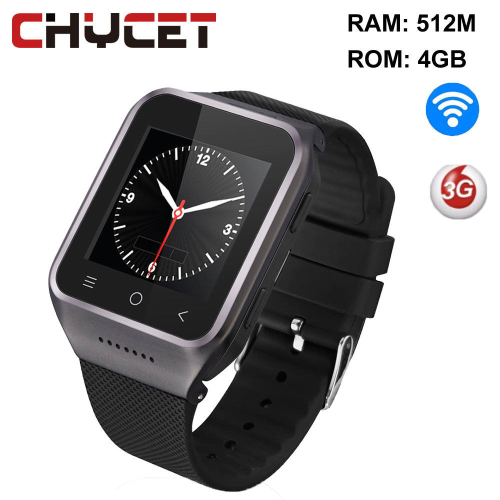 ZGPAX S8 Smart watch Horloge 1.54 Android 4.4 512 MB + 4 GB GPS 3G WiFi MP4 Sim card Telefoon Record Smartwatch pk GT08 U8 GV18 цена