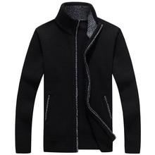 Herren Pullover Warme Starke Velvet Kaschmir-strickjacken-mann-winter Cardigan zipper Top stand Kragen Männer Freizeitkleidung MY065