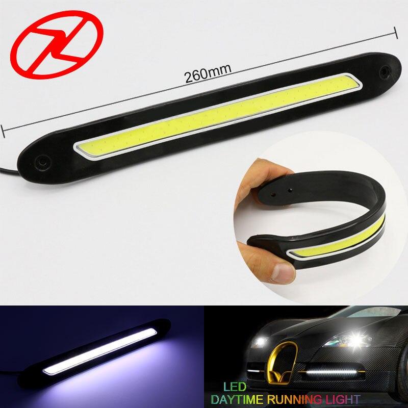 2 PCS fleksibel dipimpin daytime running lights 12 V COB 6000 K Putih - Lampu mobil - Foto 2