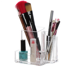 Acrylic Make Up Storage Box Transparent Cosmetic Storage Box Bedroom Crystal Acrylic Jewelry Lipstick Storage Display Rack