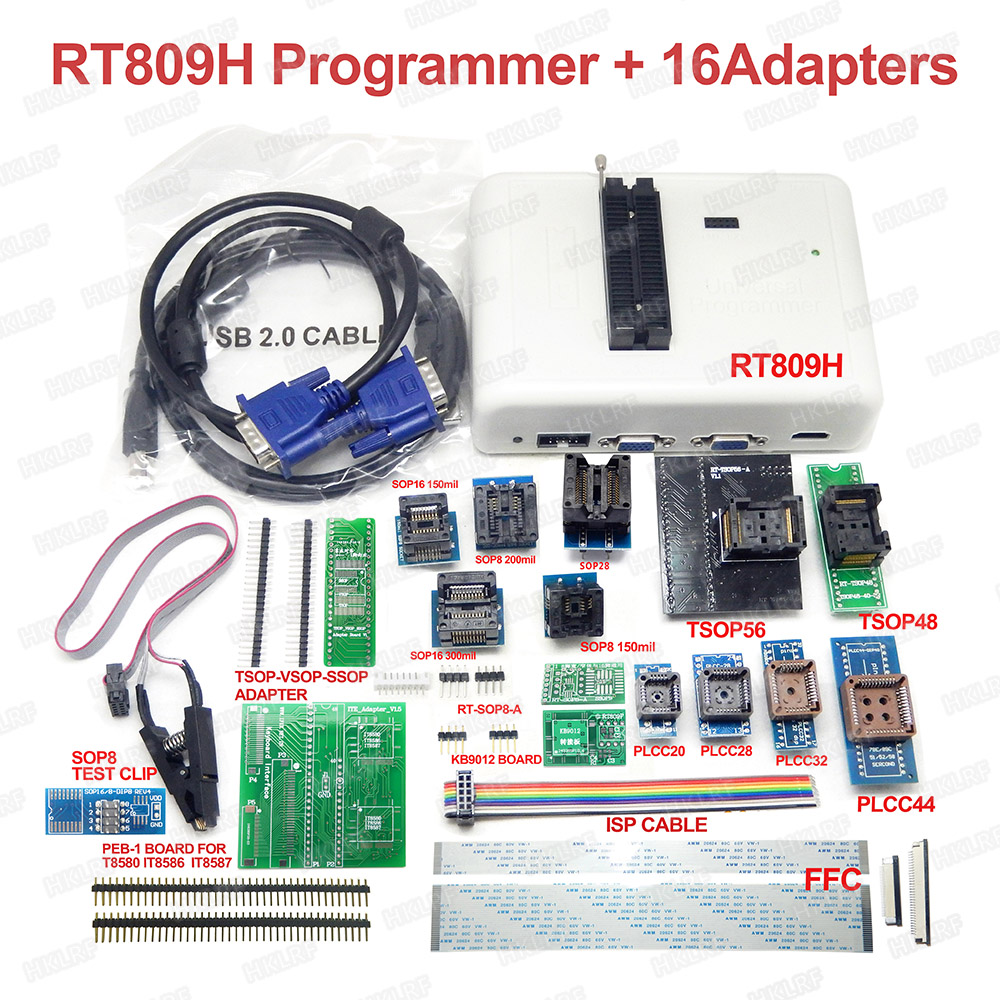 Universal RT809H EMMC Nand FLASH Programmer 16 adapter