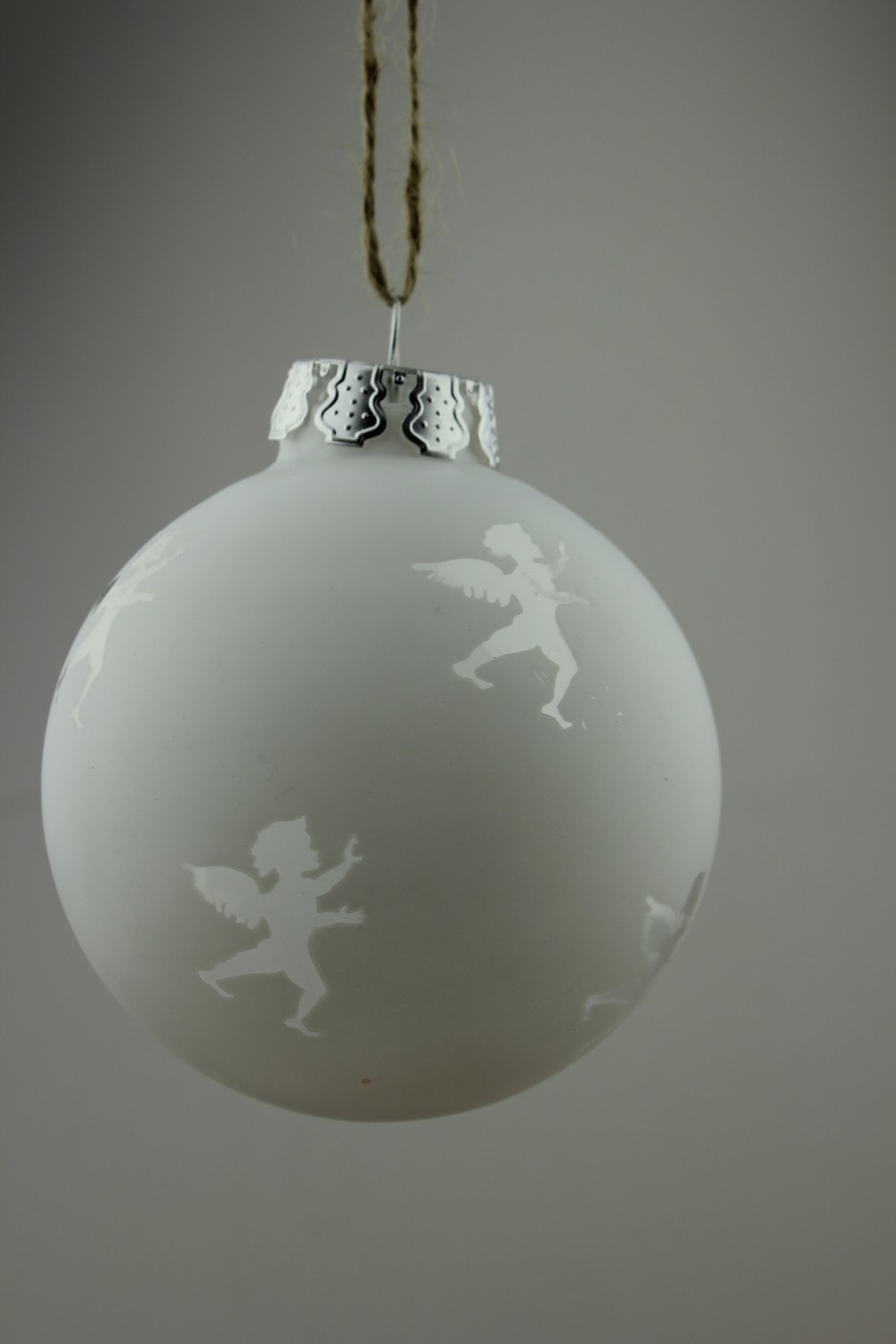 Flat glass ornaments - Angel Ball Christmas Ornament Glass Bauble Angel Hollow Out Wedding Party Event Decoration Dia8cm