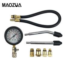 Probador de compresión automático para motocicleta y coche, Kit de prueba de presión para Motor, cilindro de Motor de Gas de gasolina, Kit de prueba automotriz