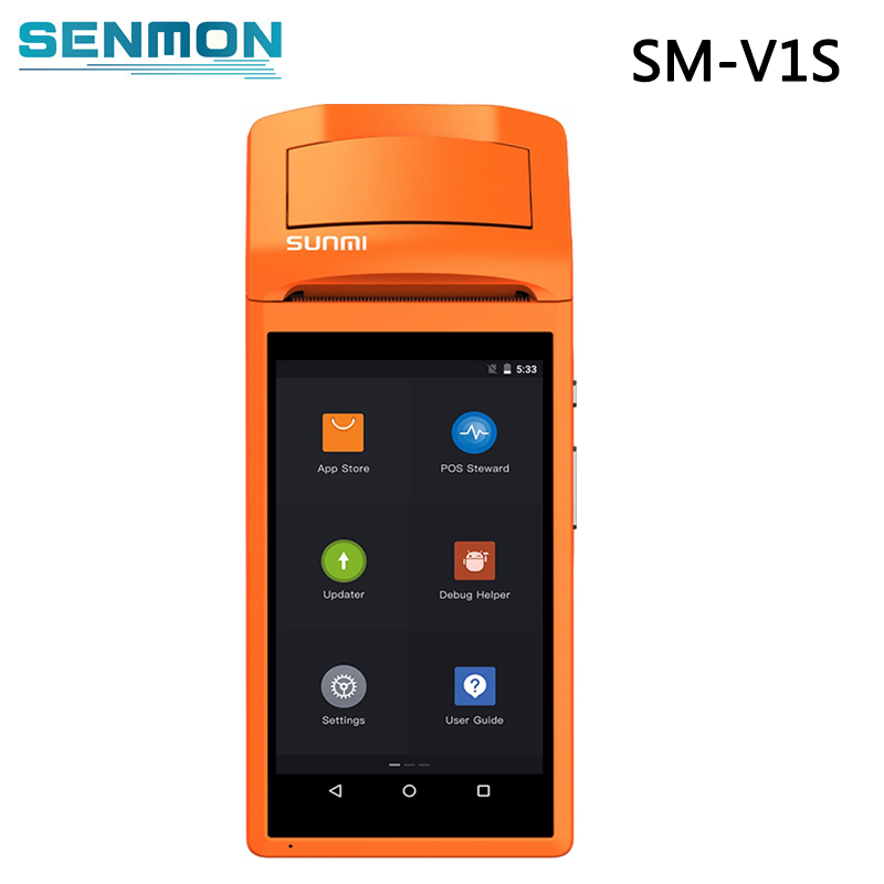 US $170 05 5% OFF|1 GB RAM Android 6 0 Tablet Mini Pos Thermal Printer  Wireless Barcode Scanner Handheld POS Terminal with NFC Reader-in Printers  from