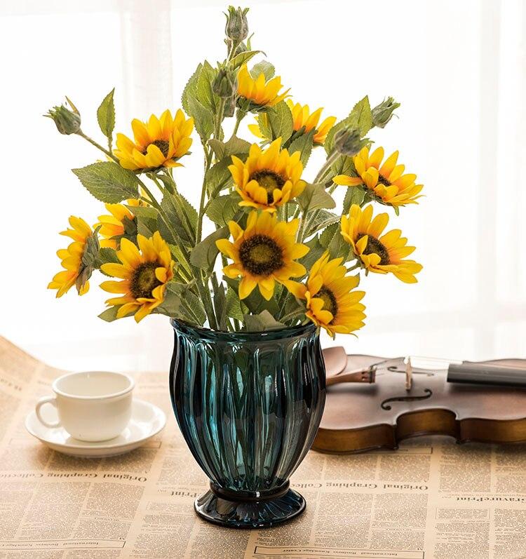 Nordicb Ins décoration maison Vases pour fleurs Floreros De Decoracion Vases en verre pour mariages moderne Vases à fleurs en verre De table