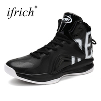 Ifrich New Cool Mens Boys Basketball Sneakers Leather Training Boots Male High Top Basket Shoes Lace Up Basket Trainers