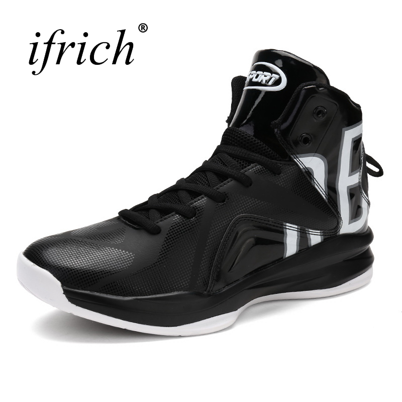 shop for official order aesthetic appearance US $29.4 41% OFF|Ifrich New Cool Mens Boys Basketball Sneakers Leather  Training Boots Male High Top Basket Shoes Lace Up Basket Trainers-in  Basketball ...