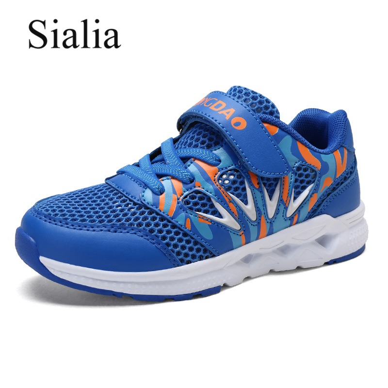 Sialia Running Boys Sneakers Shoes For Kids Shoes Summer Mesh Breathable Casual Children Shoes School Sport Trainer Hook&Loop