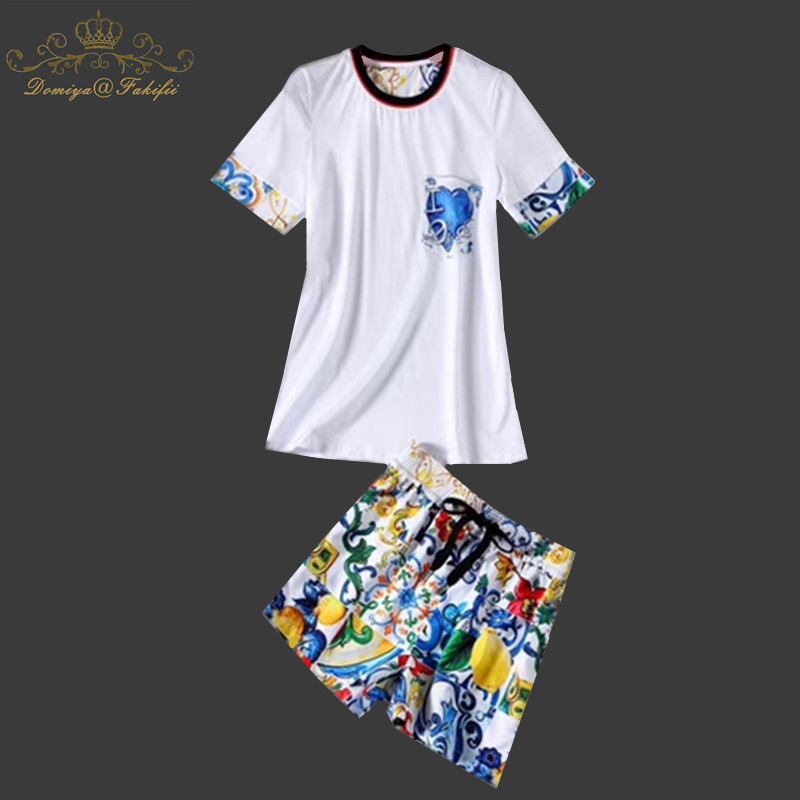 Domiya&Fakifii 2018 Summer Mother And Daughter Sets Casual Children Sets T-shirt+ Pants Girls Clothing Kid Suit For 2-10 Years domiya