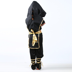 Image 2 - 검은 소년 Ninjago 제복 아이 옷 세트 아이들을위한 할로윈 의상 크리스마스 멋진 파티 드레스 닌자 의상 정장