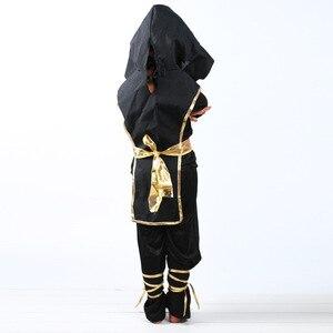 Image 2 - Schwarz Junge Ninjago Kostüm Kinder Kleidung Sets Kinder Halloween Kostüm für Kinder Weihnachten Phantasie Party Kleid Ninja Kostüme Anzüge