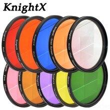 KnightX 24 màu sắc Kính lọc UV cho Nikon Canon Sony A6000 Phụ kiện EOS ống kính chụp ảnh dlsr D3200 A6500 49 52 55 58 62 67 72 77 mm