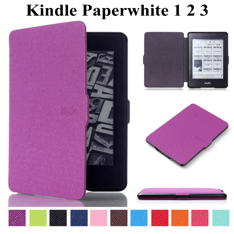 Ultra Slim Sleep Case For Amazon Kindle Paper White 1 2 3 6 Inch Cover For Kindle Paperwhite 1 2 3 Tablet Wake Up Case+Film+Pen
