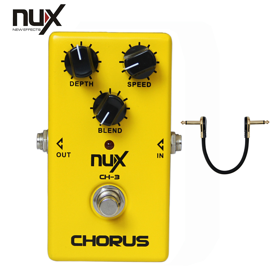 NUX CH-3 Vintage Chorus True Bypass Effect Pedal for Electric Guitar mooer ensemble queen bass chorus effect pedal mini guitar effects true bypass with free connector and footswitch topper