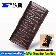 Genuine leather Brand Design Women Wallets Ladies Clutch Hand Bag Famous Brands Woman Purse Long Female Wallet
