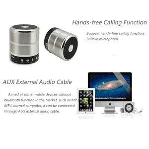 Image 5 - Altavoz bluetooth inalámbrico, mini altavoz metálico portátil de sonido subwoof con micrófono, tarjeta TF, radio FM, AUX, MP3, altavoz para reproducir música