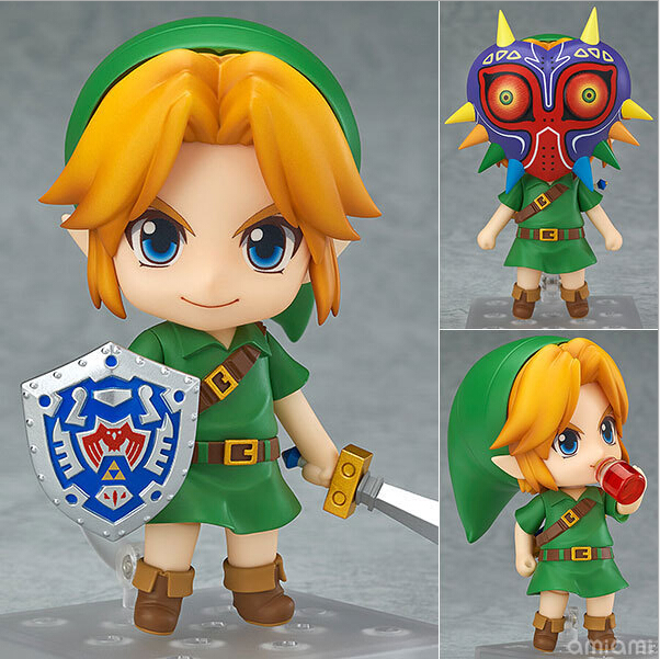 The Legend of Zelda Action Figures Link Nendoroid Majora's Mask PVC 100mm Collectible Model Toys Zelda Nendoroid Figure nendoroid cynthia and garchomp action figures toys anime collectible model 507