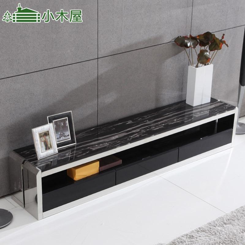 livraison gratuite cabane en rondins meubles mode moderne marbre meuble tv en acier inoxydable armoire