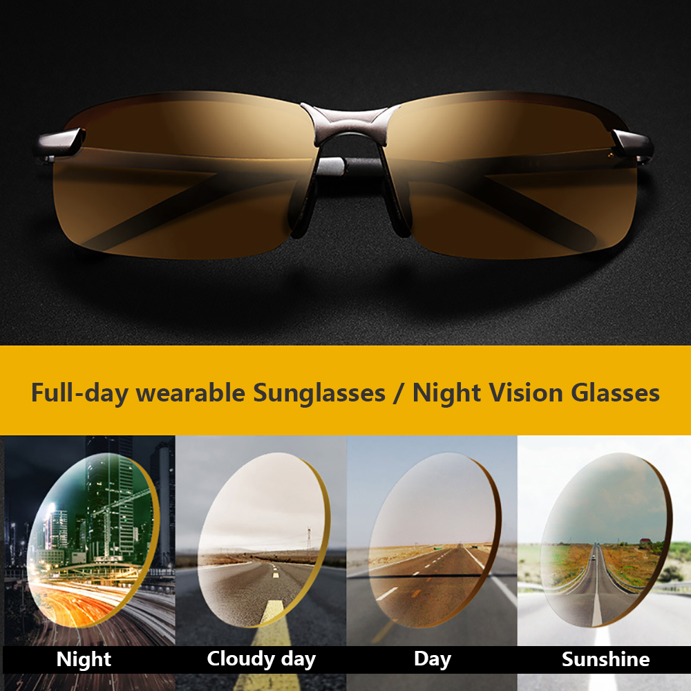 Image 5 - 2018 Night Vision Glasses Polarized Sunglasses Men Fashion Night Vision Driving Sunglass Sun Glasses Male Eyewear Day and Night-in Driver Goggles from Automobiles & Motorcycles