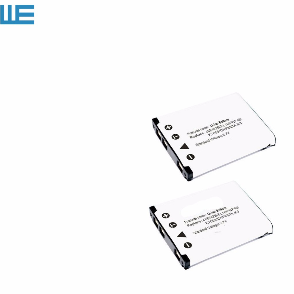 2pcs/lot NP 45,NP 45A,NP45,NP45A LI40B Battery for