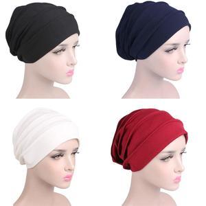 Женская дышащая шапка Hijabs эластичная чалма голова Кепка шапка для женщин для выпадения волос Рак шапочка аксессуары мусульманский шарф шап...