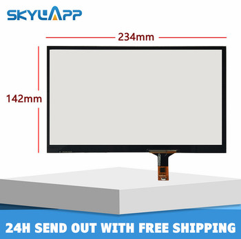 skylarpu 10.1'' inch Touchscreen 234mm*142mm Capacitive Touch panel Glass Digitizer screen Universal Tablet DVD navigation