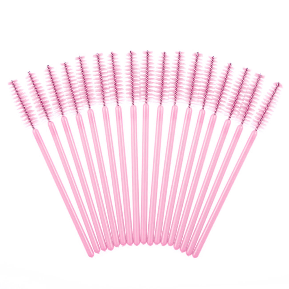 100pc Disposable Make Up Brush Synthetic Fiber One-Off Eyelash Brush Mascara Wands Applicator Spoolers Eye Lash Makeup Tool