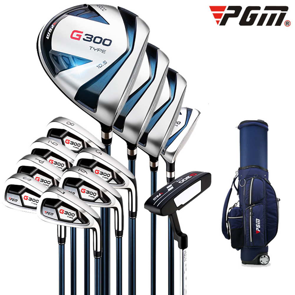 Crestgolf G300 Men's Right Handed Golf Complete Set Golf Clubs Set---A Standard Ball Bag & 12 Clubs, Free Headcovers.