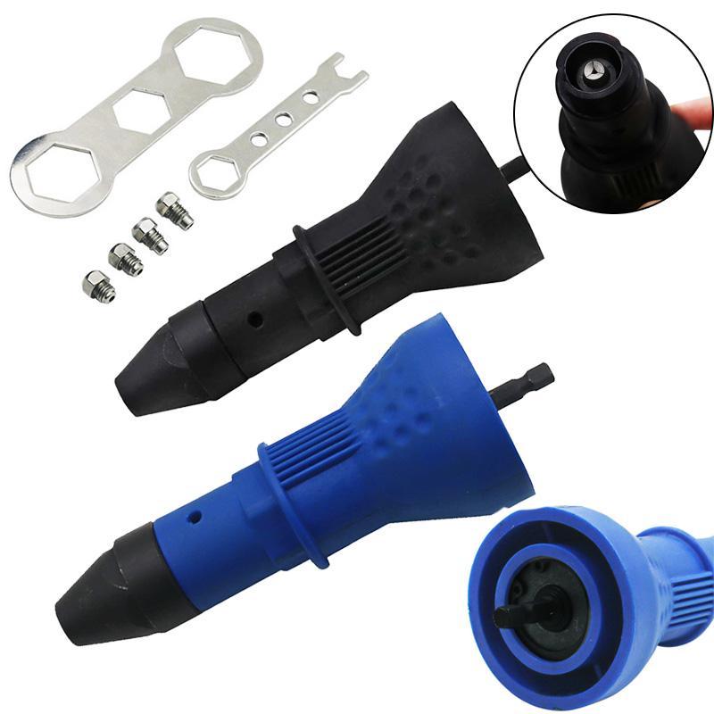 Elektrische Nietmutter Gun Nieten Werkzeug Cordless Nieten Bohrer Adapter Gewindebuchse Werkzeug Nieten Drill Adapter