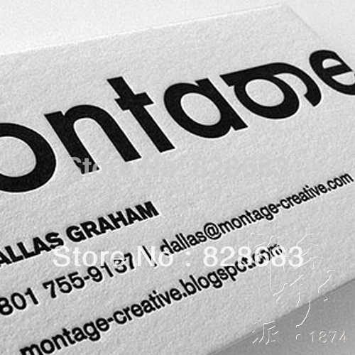 Bonne Qualit Papier Cartes De Visite 500pcs 350gms Art Paper 2 Cts Impression Gaufrage Texte Logo Dans Fournitures Scolaires Et